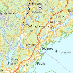 Karta Arendal Norge.Arendalskart